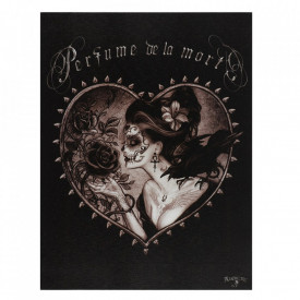 Tablou canvas gotic Perfume de la Mort 19x25cm