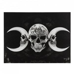 Tablou canvas luna tripla Zeita Intunecata 25x19cm