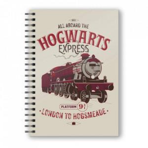 Agenda/Jurnal coperta 3D licenta Harry Potter - Expresul spre Hogwarts