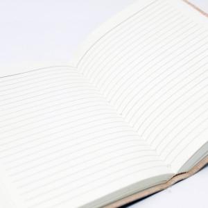 Agenda / Jurnal cu coperti piele si inchizatoare cu cureluse si piatra semipretioasa Onyx(15x10 cm)
