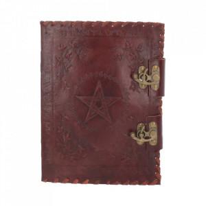Agendă / Jurnal cu coperți piele și încuietoare dubla Cartea Umbrelor mica