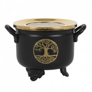 Arzator granule de tamaie cu sita in forma de cazan magic Copacul Vietii
