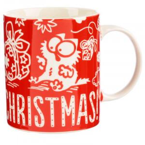 Cana din portelan pisicuta Meowy Christmas