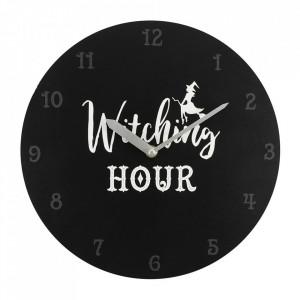 Ceas de perete negru Witching Hour