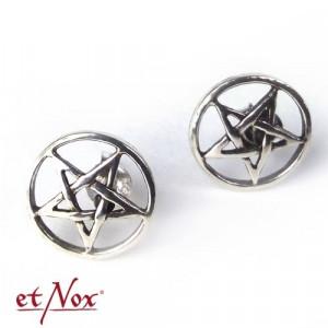 Cercei argint Pentagrama O167