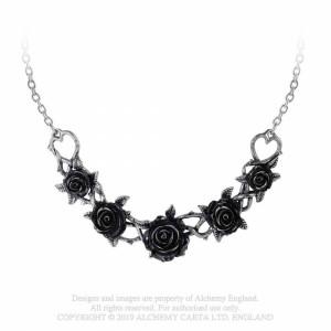 Colier trandafiri negri Rose Briar