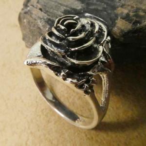 Inel argint Poison Ring Trandafir