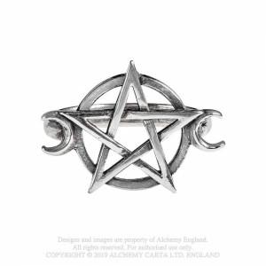 Inel pentagrama si semiluni Zeita