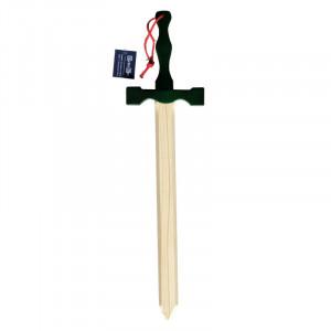 Jucarie - Sabie lemn Excalibur cu maner verde 56cm