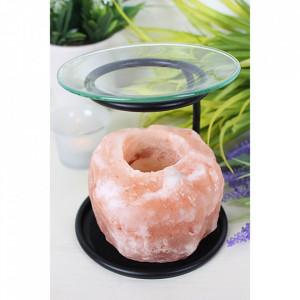 Lampa aromaterapie cu cristal de sare roz de Himalaia