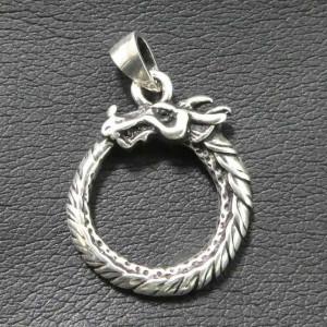 Pandantiv argint Ouroboros