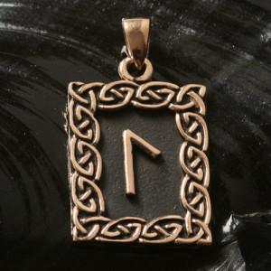 Pandantiv bronz runa Laguz