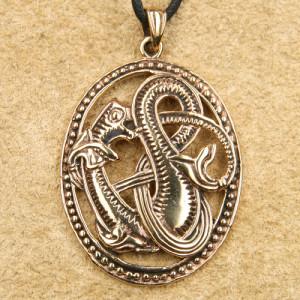 Pandantiv bronz Sarpe celtic
