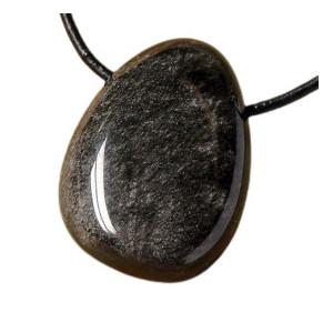 Pandantiv piatra semipretioasa Obsidian 33mm