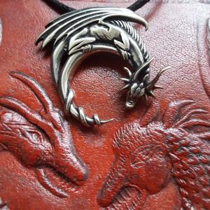 Pandantiv talisman Dragon - argint