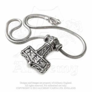 Pandantiv viking Ciocanul lui Thor cu rune