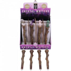 Pix sculptat sub forma de bagheta cu cristal Crystal Writers 16 cm