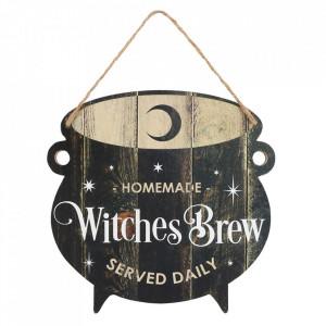 Placuta decorativa lemn Witches Brew