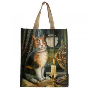 Sacosa cumparaturi cu design pisica Aventura asteapta - Lisa Parker