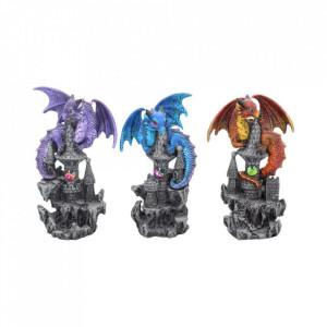 Set 3 statuete dragoni Protectorii cetatii 5.5 cm
