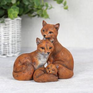 Set statuete Familia de Vulpi - mami, tati si copil