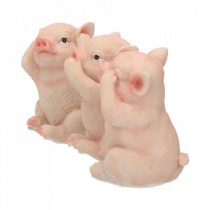 Set statuete Trei purcelusi intelepti 9.5 cm