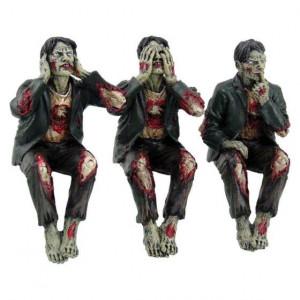 Set statuete Trei zombi intelepti 10 cm