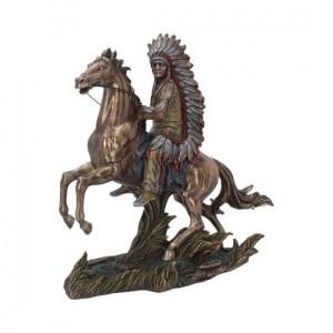 Statueta amerindian Vanatorul de bizoni 28.5 cm