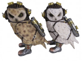 Statueta bufnita steampunk Owl Steam
