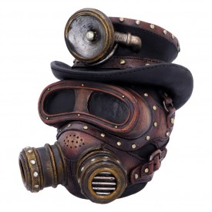 Statueta craniu steampunk Respiratie Mecanica 18 cm