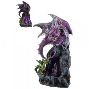 Statueta cu led Dragoni 29cm