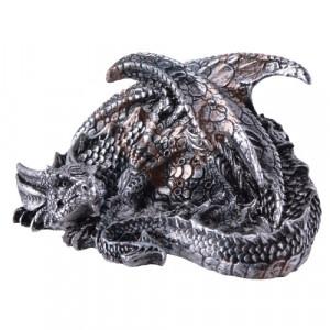 Statueta dragon Aaden - argintiu 10cm