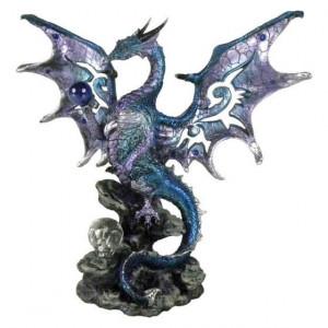 Statueta dragon Aripi albastre 20.5 cm