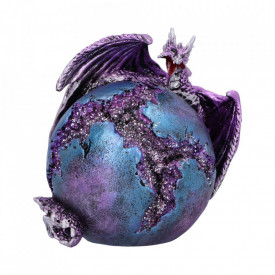 Statueta dragon Crevice Keeper (violet) 10.3cm