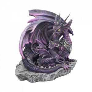 Statueta dragon cu pui Inceputuri 19 cm