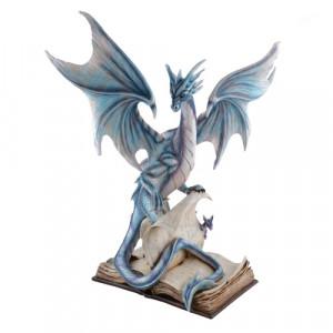 Statueta dragon pe carti Intelepciune