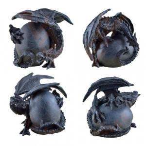 Statueta dragon Protectorul oului 8cm