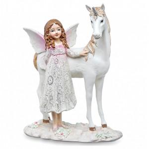 Statueta Dream Fairy - Zana si unicorn 17.5 cm