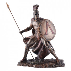 Statueta finisaj bronz Leonidas cu scut si sabie