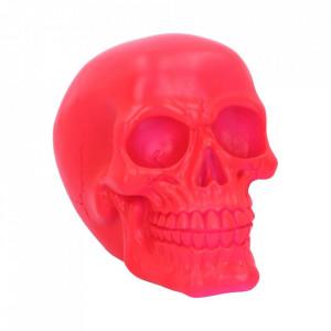 Statueta fosforescenta craniu Psychedelic - roz 15.5 cm