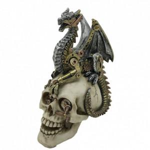 Statueta steampunk Imbratisarea dragonului