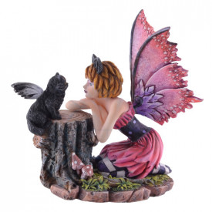 Statueta zana si pisica Felinero 18cm