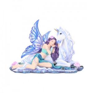 Statueta zana si unicorn Belle 34 cm