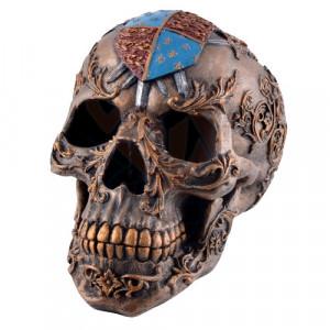 Statuta Craniu cu insemne heraldice 17cm