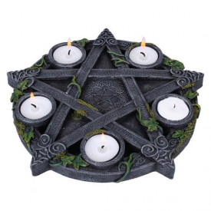 Suport lumânări Pentagramă cu iederă