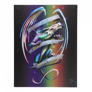 Tablou canvas dragon, Fantasy 19x25cm - Anne Stokes