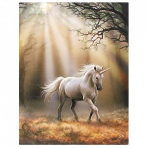 Tablou canvas Glimpse of an Unicorn 19x25cm - Anne Stokes