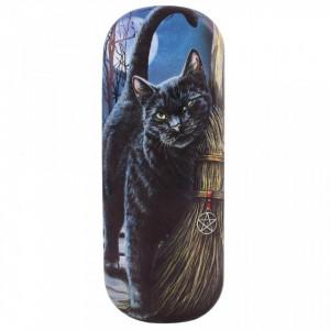 Toc pentru ochelari, design Lisa Parker, pisica neagra, O intalnire magica