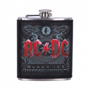 Butelcuta (plosca) inox pentru bauturi alcoolice AC/DC - Black Ice