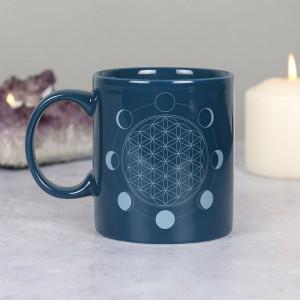 Cana ceramica Floarea vietii